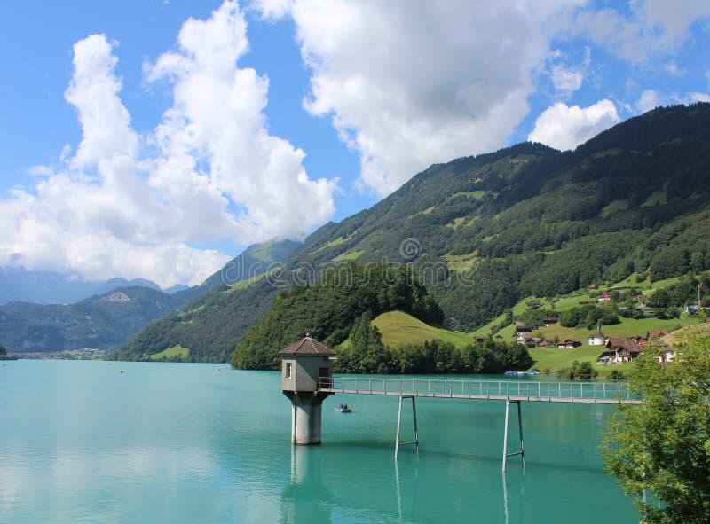 Lungern湖,瑞士 库存图片