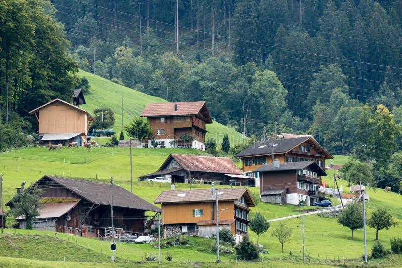 LUNGERN, SWITZERLAND/ EUROPE - SEPTEMBER 22: View of Swiss chal. Ets near Lungern Obwalden in Switzerland on September 22, 2015 royalty free stock photo
