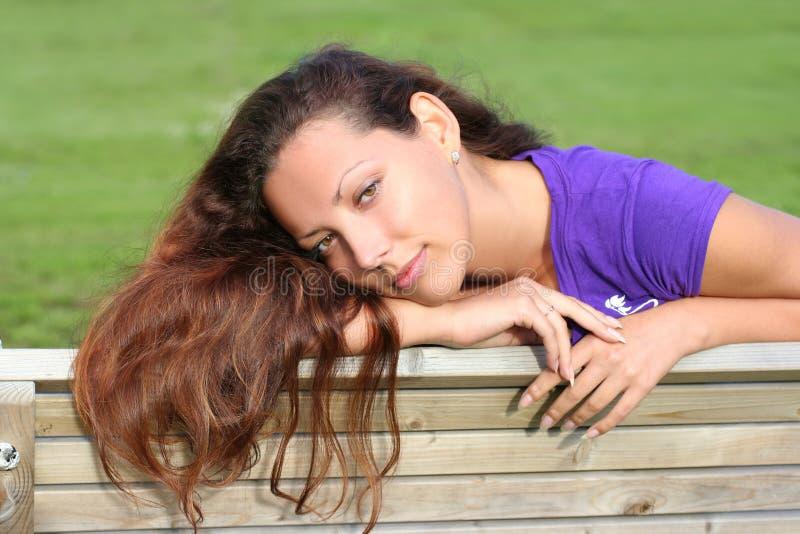 lungo dai capelli della ragazza beautyful fotografia stock libera da diritti