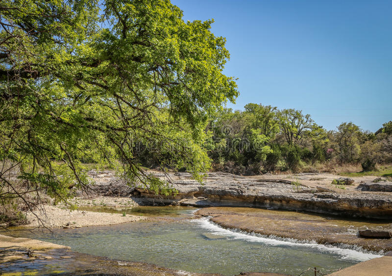 Lungo Rocky Creek immagine stock