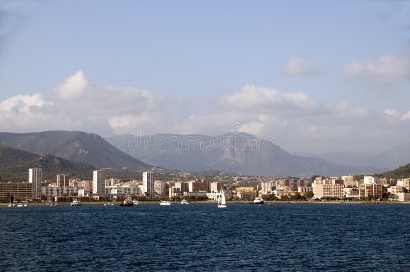 Lungomare Aiaccio Corsica Francia di panorama fotografia stock