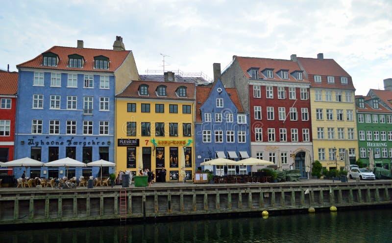 Lungomare Copenhaghen di Nyhavn fotografia stock libera da diritti