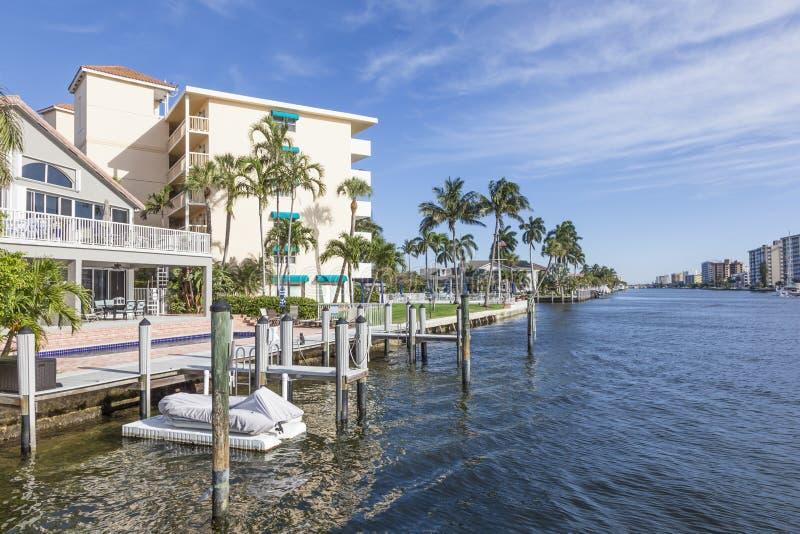 Lungomare della spiaggia della leccia, Florida fotografia stock