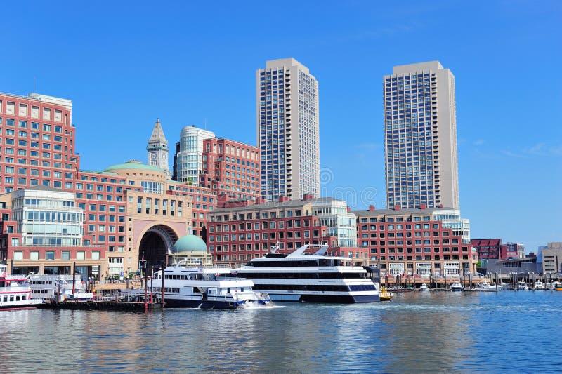 Lungomare di Boston fotografia stock
