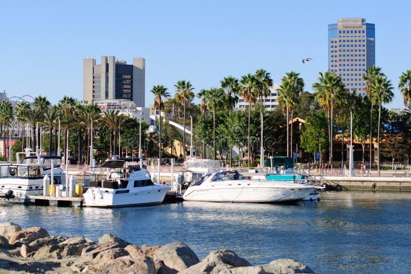 Lungomare di Long Beach nell'area metropolitana di Los Angeles fotografie stock