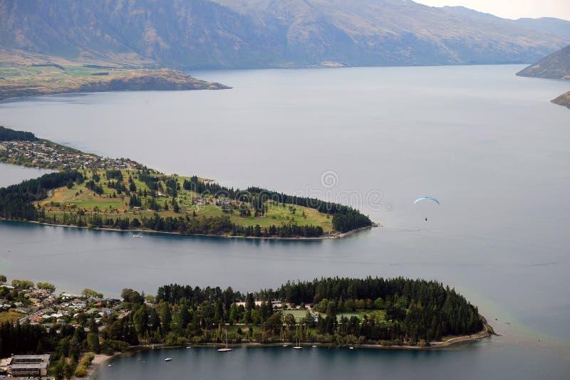 Lungomare di Queenstown NZ fotografie stock libere da diritti