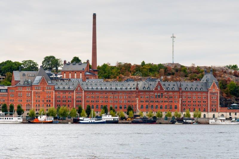 Lungomare di Stoccolma Sodermalm immagine stock