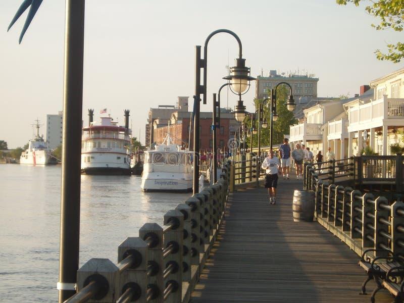 Lungomare di Wilmington fotografia stock
