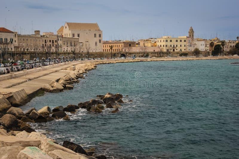 Lungomare Imperatore Augusto bari Apulia ou Puglia Italy fotografia de stock