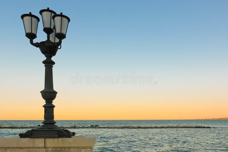 Lungomare Sauro Nazario _ Apulia eller Puglia italy royaltyfria foton