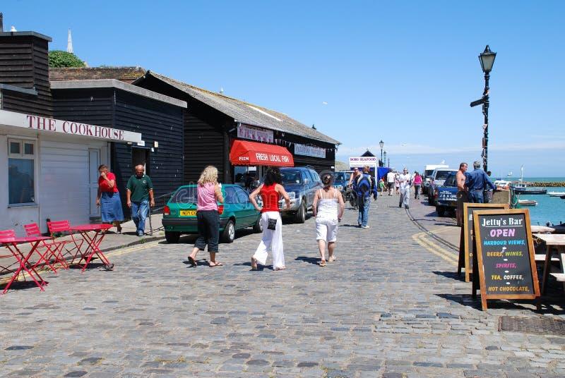 Lungonmare di Folkestone fotografie stock