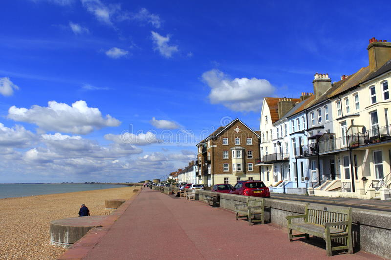 Lungonmare Kent England di Hythe fotografie stock