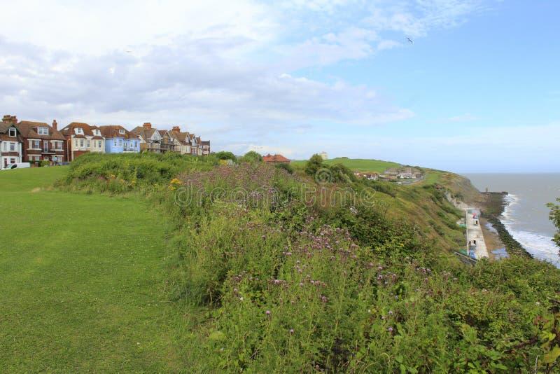 Lungonmare Kent Great Britain di Folkestone immagini stock