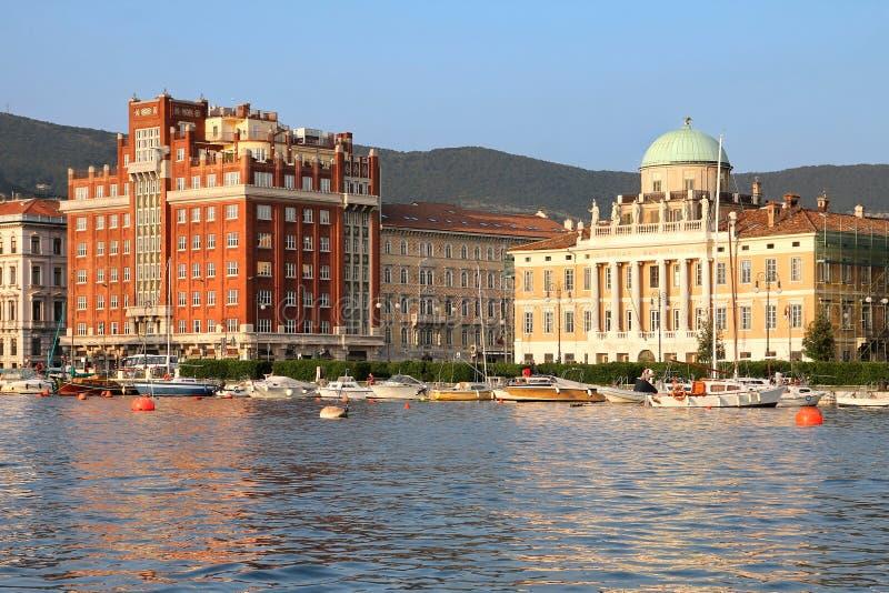 Lungonmare a Trieste, Italia fotografia stock