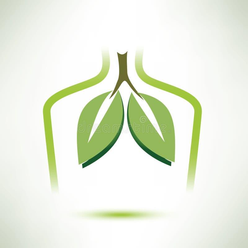 Lungor isolerad stiliserad symbol för vektor symbol royaltyfri illustrationer
