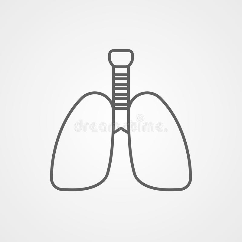 Lungs vector icon sign symbol vector illustration