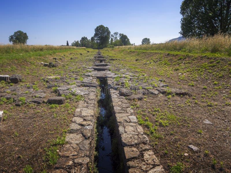 LUNI, MASSA CARRARE, ITALIE – 2 JUIN 2019 : Restes archéologiques des périodes romaines antiques chez Luni Aka Portus Lunae photographie stock