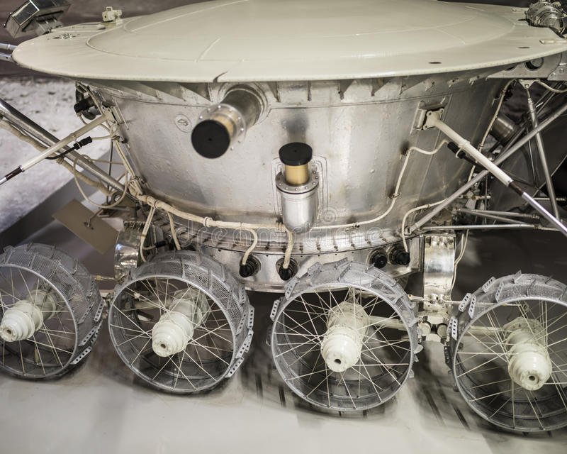 Lunokhod-1 - eerste in de wereld automatische gemotoriseerde eenheid royalty-vrije stock afbeeldingen