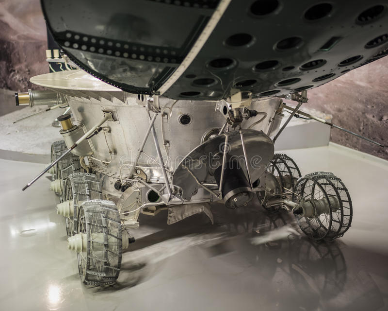 Lunokhod-1 -the first in the world automatic self-propelled unit stock photo