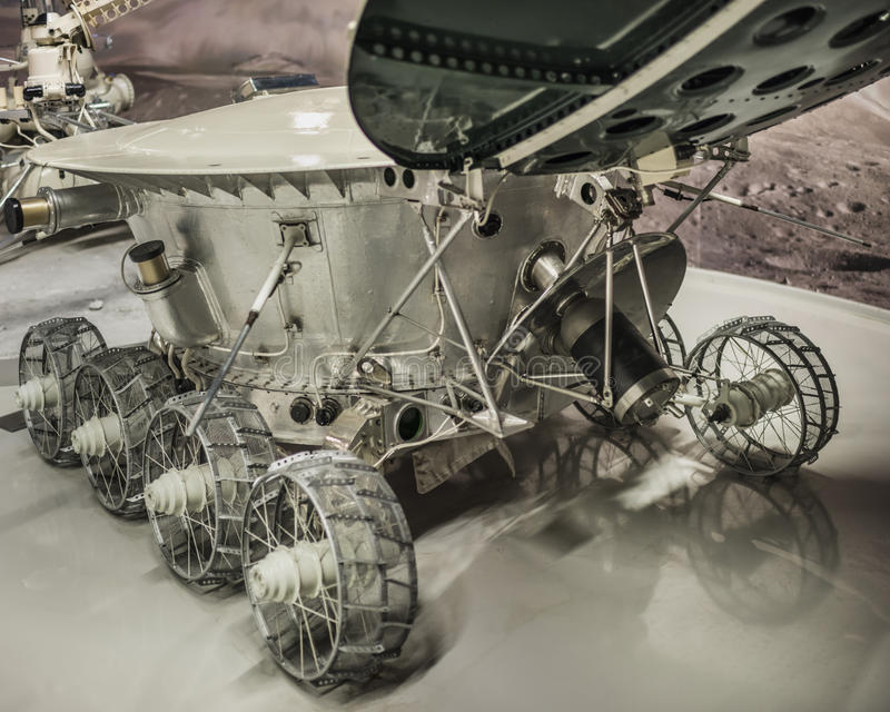 Lunokhod-1 -the first in the world automatic self-propelled unit royalty free stock photo