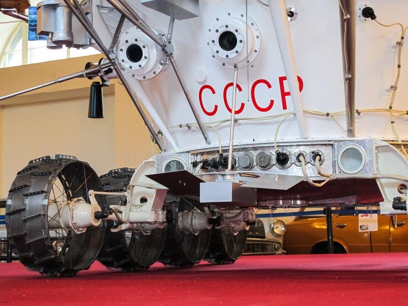Lunokhod-1, vagabundo do espaço de União Soviética da lua imagens de stock