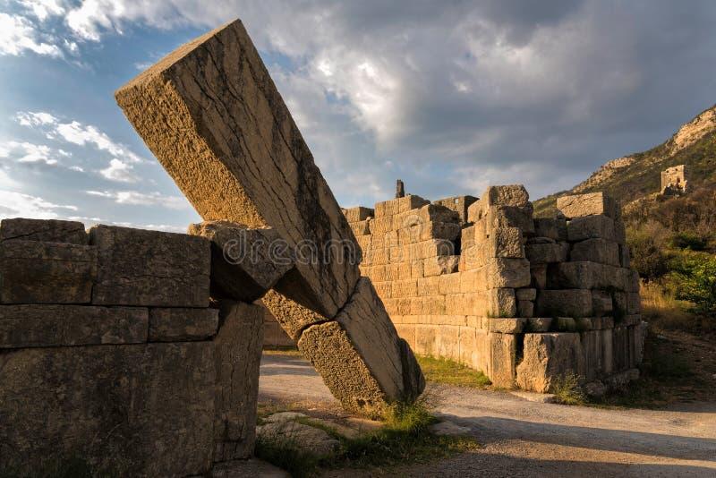 Luogo Archaeological in Grecia immagine stock