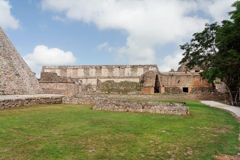 Luogo Archeological di Uxmal fotografia stock