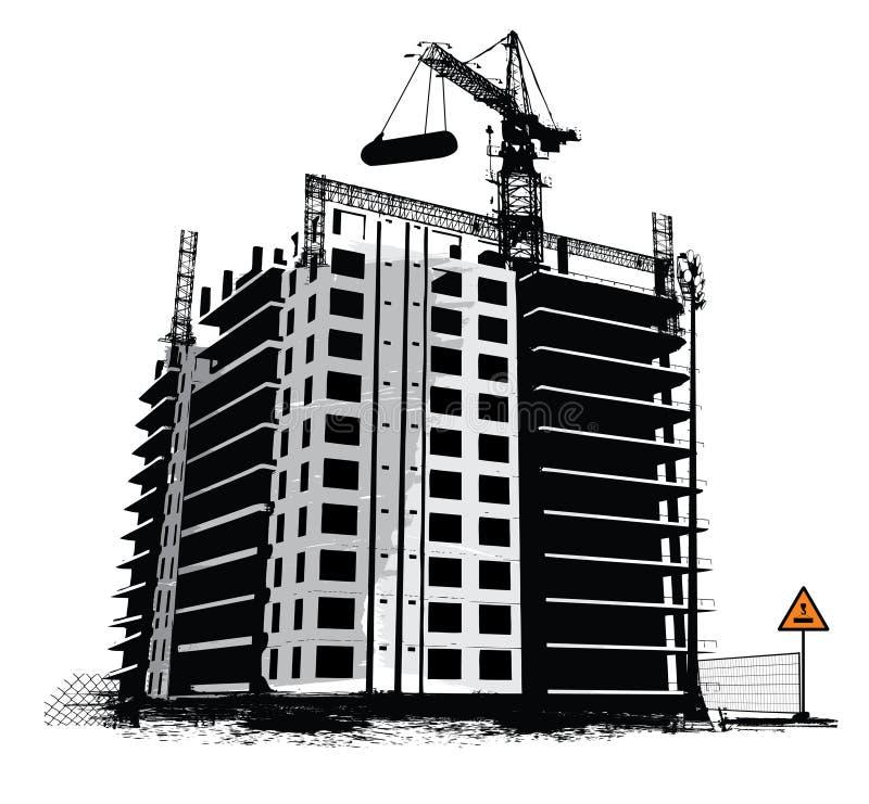 Luogo dei lavori di costruzione illustrazione di stock