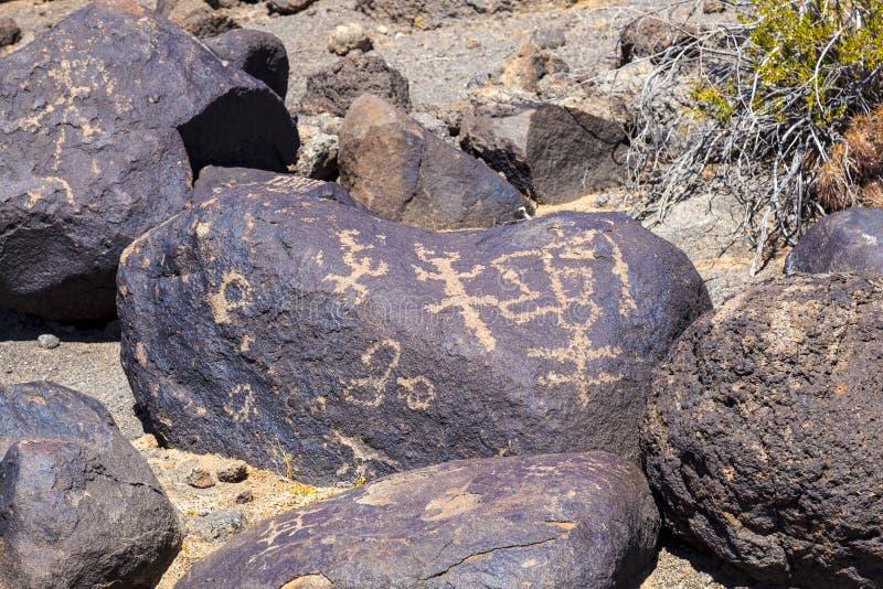 Luogo del petroglifo, vicino alla curvatura del Gila, l'Arizona immagine stock libera da diritti