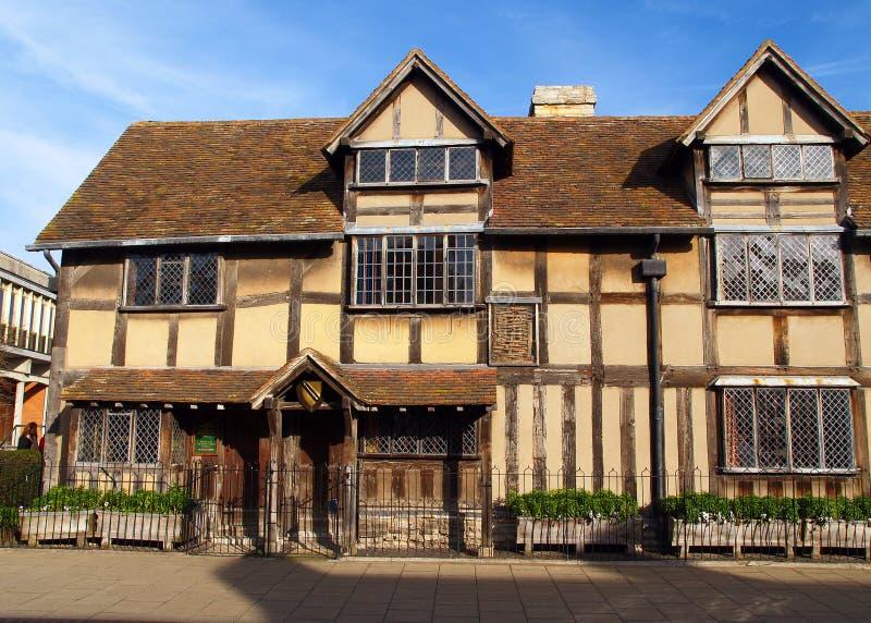 Luogo di nascita degli shakespeares di Stratford fotografie stock