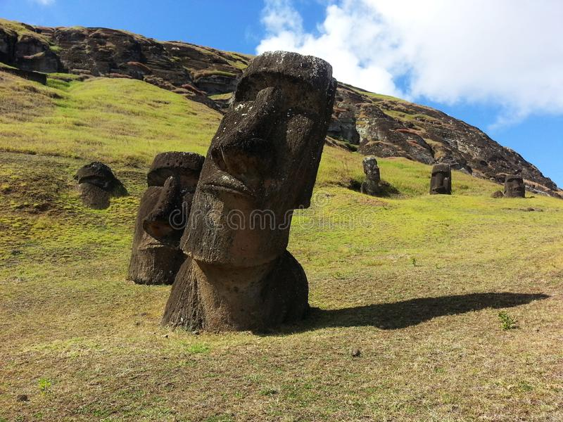 Luogo di nascita del Moai fotografia stock