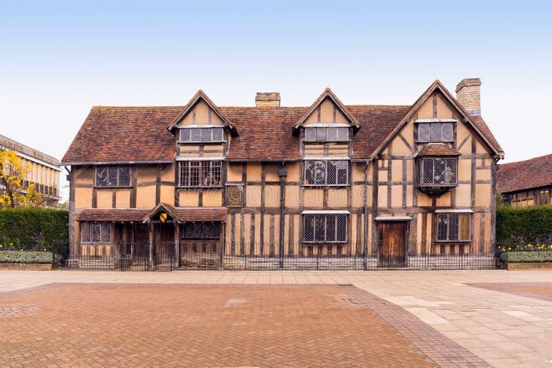 Luogo di nascita del ` s di Shakespeare, Stratford sopra Avon, Warwickshire, Inghilterra fotografia stock libera da diritti