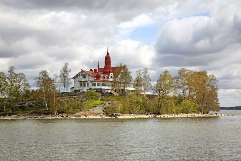 Luoto ö i Helsingfors finland royaltyfria foton