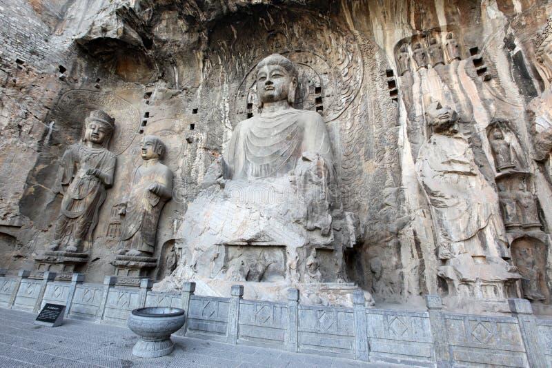 Luoyang Buddhaen av Longmen arkivfoton