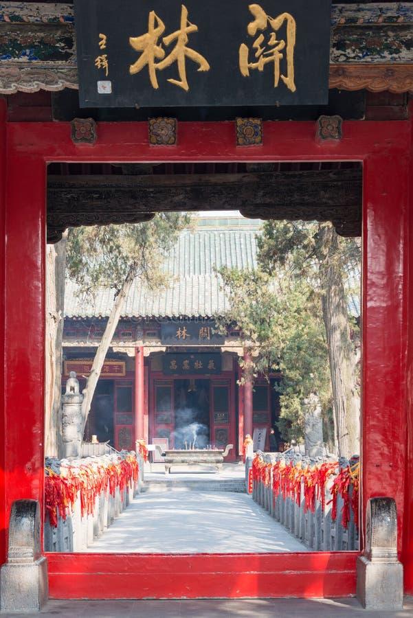 LUOYANG, CHINA - 14 NOV. 2014: Guanlintempel beroemde Historisch royalty-vrije stock afbeelding