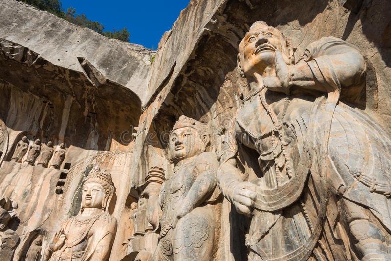 LUOYANG, CINA - 13 NOVEMBRE 2014: Grotte di Longmen Mondo dell'Unesco lei fotografia stock