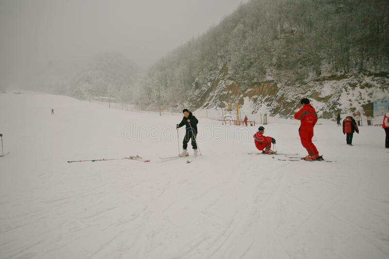 Luoyang Funiu Mountain Ski Resort royalty free stock images