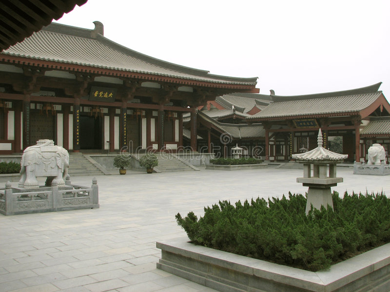 Luoyang-Hof lizenzfreie stockfotos