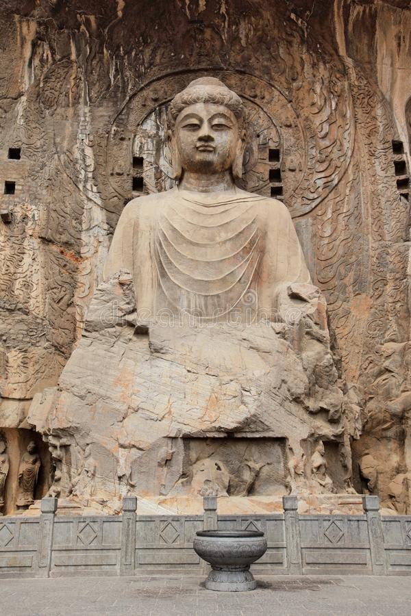 Luoyang le Bouddha des grottes de Longmen photos libres de droits