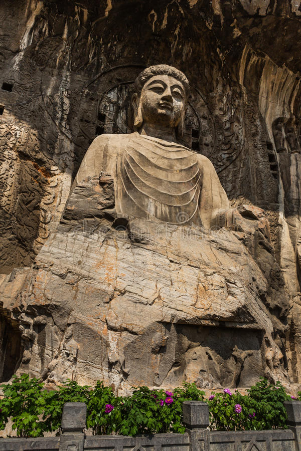 Luoyang Longmen Grottoes in Henan, China. Luoyang Longmen Grottoes carved in the Northern Wei Emperor Xiaowen moved the capital to Luoyang (493 years) before and royalty free stock photos
