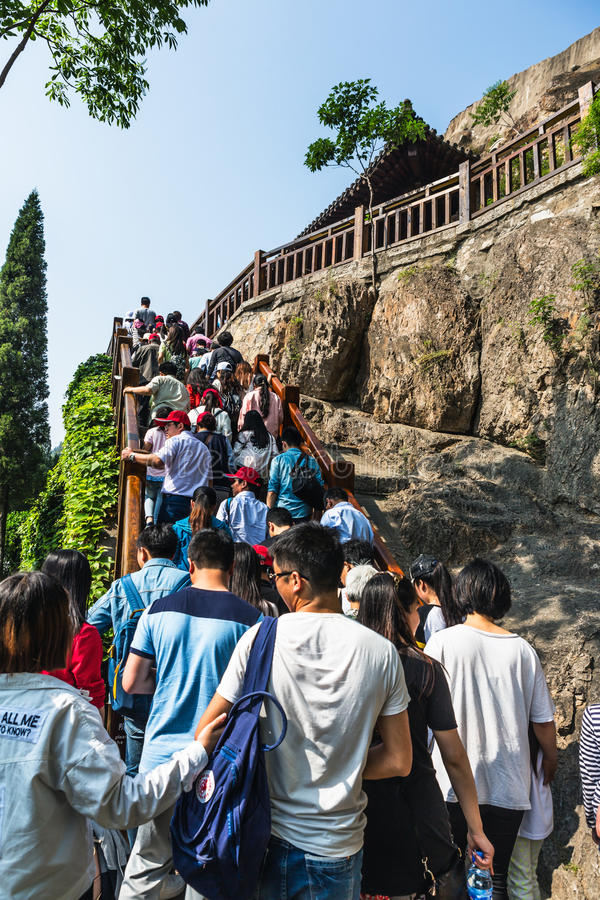 Luoyang Longmen groty w Henan, Chiny zdjęcie royalty free