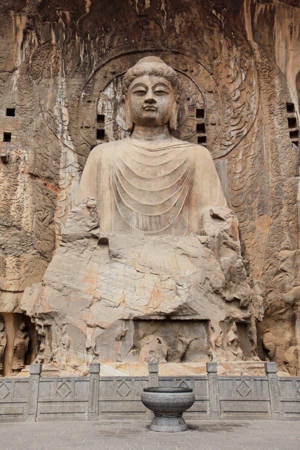 Luoyang o buddha de grutas de Longmen fotos de stock royalty free