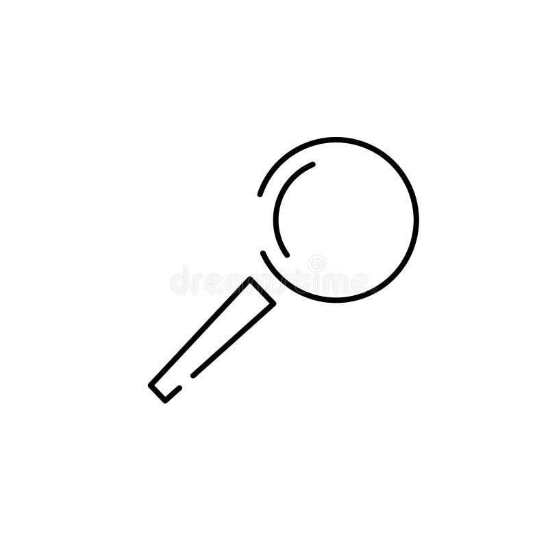 lupa, ícone da busca da lupa ilustração royalty free
