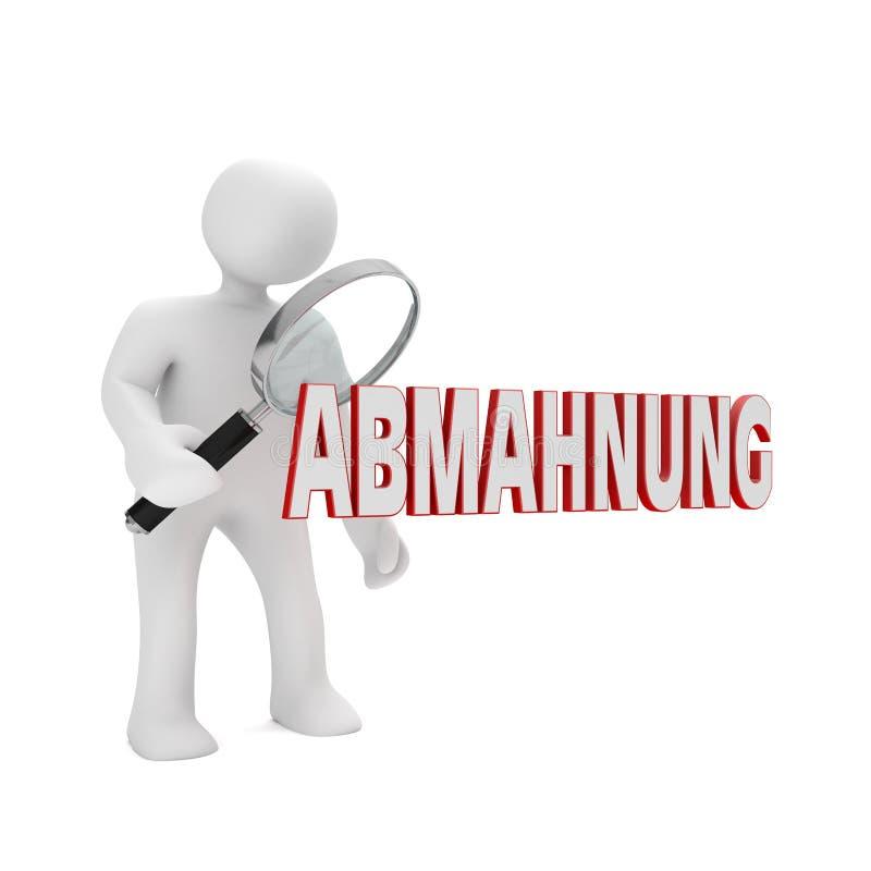 Lupa Abmahnung del maniquí libre illustration