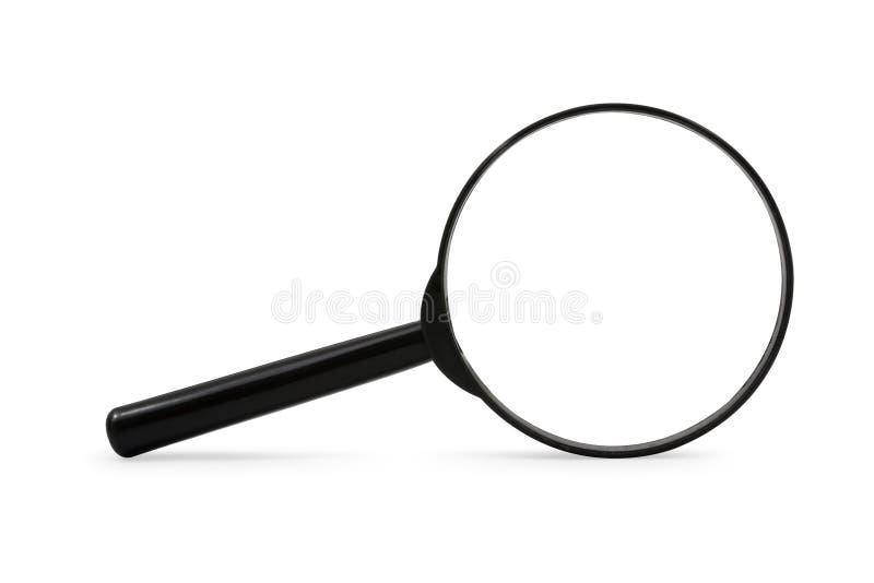 Lupa aislada en el fondo blanco fotografía de archivo libre de regalías