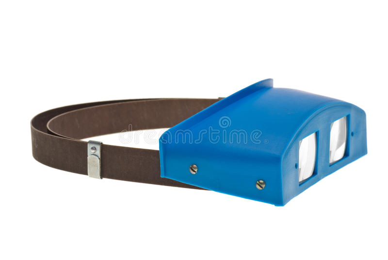 Lupa dental binocular do Headband imagem de stock royalty free