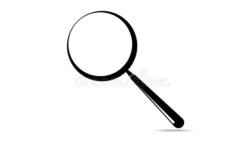 Lupa - procurando Logo Template - ícone de ampliação - símbolo da lupa ilustração do vetor
