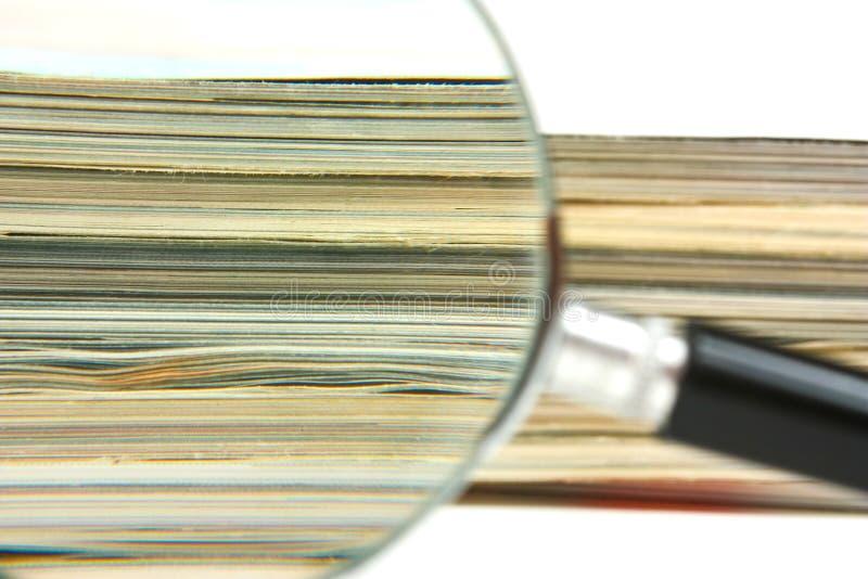 Lupa y compartimientos fotos de archivo libres de regalías