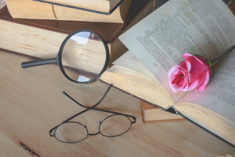 Lupas del cuaderno de Rose fotos de archivo