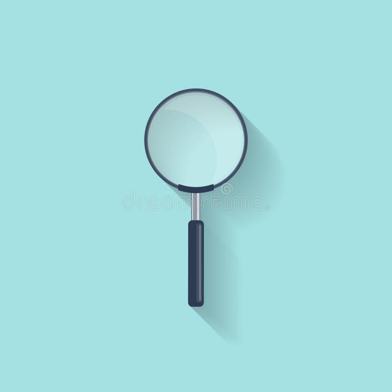 Lupe, Lupe in einer flachen Art zoom vergrößerungsglas Auch im corel abgehobenen Betrag lizenzfreie abbildung